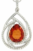 "4.91ctw Mystic Sunstone Pendant in Sterling Silver with 18"" Chain"