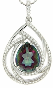 "4.91ctw Mystic Pendant in Sterling Silver with 18"" Chain"