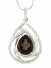 "4.91ctw Smokey Quartz Pendant in Sterling Silver with 18"" Chain"