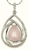 "4.91ctw Rose Quartz Pendant in Sterling Silver with 18"" Chain"