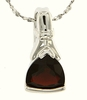 "1.35ctw Garnet Pendant in Sterling Silver with 18"" Chain"