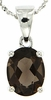"2.14ctw Smokey Quartz Pendant in Sterling Silver with 18"" Chain"