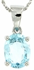 "2.14ctw Sky Topaz Pendant in Sterling Silver with 18"" Chain"