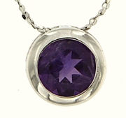 "0.85ctw Amethyst Pendant in Sterling Silver with 18"" Chain"