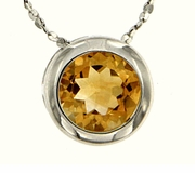 "0.85ctw Citrine Pendant in Sterling Silver with 18"" Chain"