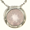 "0.85ctw Rose Quartz Pendant in Sterling Silver with 18"" Chain"