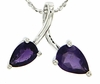 "1.23ctw Amethyst Pendant in Sterling Silver with 18"" Chain"