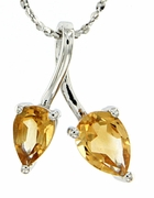 "1.23ctw Citrine Pendant in Sterling Silver with 18"" Chain"