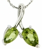 "1.23ctw Peridot Pendant in Sterling Silver with 18"" Chain"