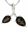 "1.23ctw Smokey Quartz Pendant in Sterling Silver with 18"" Chain"