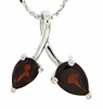"1.23ctw Garnet Pendant in Sterling Silver with 18"" Chain"