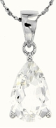 "4.00ctw White Topaz Pendant in Sterling Silver with 18"" Chain"