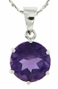 "10.30ctw Amethyst Pendant in Sterling Silver with 18"" Chain"
