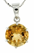 "10.30ctw Citrine Pendant in Sterling Silver with 18"" Chain"