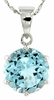 "10.30ctw Sky Topaz Pendant in Sterling Silver with 18"" Chain"