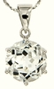 "10.30ctw White Topaz Pendant in Sterling Silver with 18"" Chain"