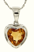 "2.37ctw Citrine Pendant in Sterling Silver with 18"" Chain"