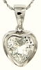 "2.37ctw White Topaz Pendant in Sterling Silver with 18"" Chain"