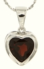 "2.37ctw Garnet Pendant in Sterling Silver with 18"" Chain"