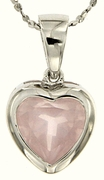 "2.37ctw Rose Quartz Pendant in Sterling Silver with 18"" Chain"