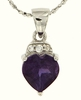 "1.40ctw Amethyst Pendant in Sterling Silver with 18"" Chain"