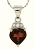 "1.40ctw Garnet Pendant in Sterling Silver with 18"" Chain"
