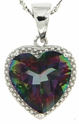 "4.73ctw Mystic Pendant in Sterling Silver with 18"" Chain"