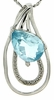 "2.41ctw Sky Topaz and Diamond Pendant in Sterling Silver with 18"" Chain"