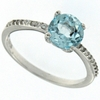 1.66ctw Sky Topaz & White Sapphire Ring in Sterling Silver
