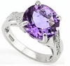4.24ctw Amethyst and Diamond Ring in Sterling Silver