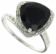 3.12ctw Sapphire and Diamond Ring in Sterling Silver