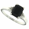 1.67ctw Sapphire and Diamond Ring in Sterling Silver
