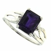 2.26ctw Amethyst and Diamond Ring in Sterling Silver