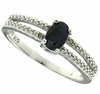 0.66ctw Sapphire and Diamond Ring in Sterling Silver