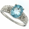 1.46ctw Sky Topaz and Diamond Ring in Sterling Silver