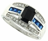 1.35ctw Sapphire and Diamond Ring in Sterling Silver