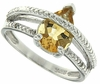 1.67ctw Citrine and Diamond Ring in Sterling Silver