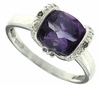 2.49ctw Amethyst and Tanzanite and Diamond Ring in Sterling Silver