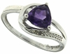 1.06ctw Amethyst and Diamond Ring in Sterling Silver
