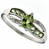 0.65ctw Peridot and Diamond Ring in Sterling Silver