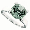 3.91ctw Green Amethyst Ring in Sterling Silver