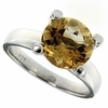 3.91ctw Citrine Ring in Sterling Silver