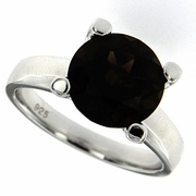 3.91ctw Smokey Quartz Ring in Sterling Silver