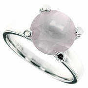 3.91ctw Rose Quartz Ring in Sterling Silver