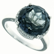 6.18ctw  Mystic Iolite Blue Ring in Sterling Silver