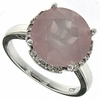 6.18ctw Rose Quartz Ring in Sterling Silver