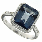 5.54ctw Mystic Iolite Blue Ring in Sterling Silver