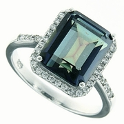 5.54ctw Mystic Blueish Ring in Sterling Silver