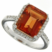 5.54ctw Mystic Sunstone Ring in Sterling Silver