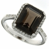 5.54ctw Smokey Quartz Ring in Sterling Silver